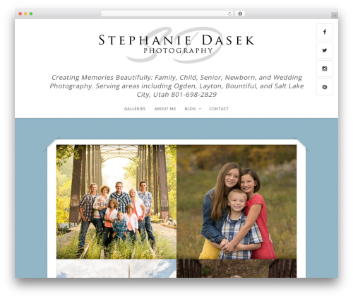 Capture WordPress template for photographers - stephaniedasekphotography.com