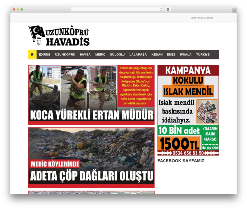 FlatNews WordPress news template - havadispress.com