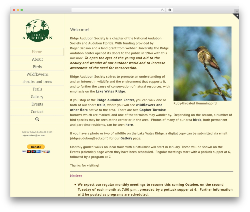 Avada WordPress page template - ridgeaudubon.com