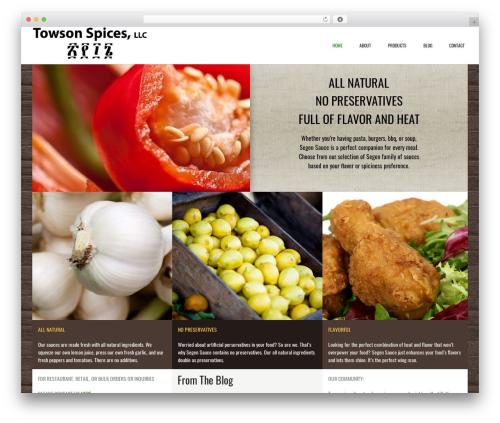 Conica WordPress theme - towsonspices.com