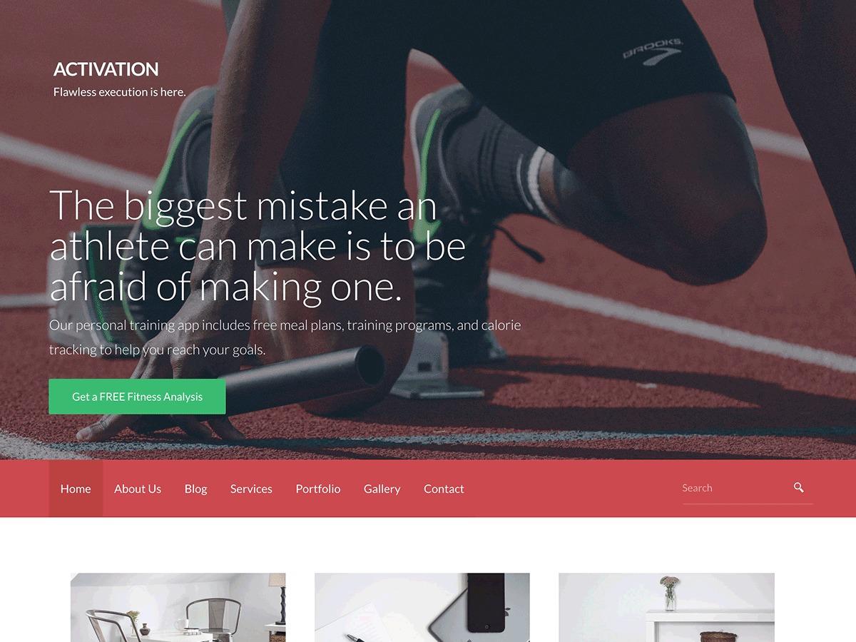 IU fitness WordPress theme