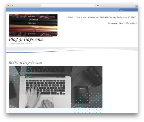 Longevity WordPress template free - blog31days.com
