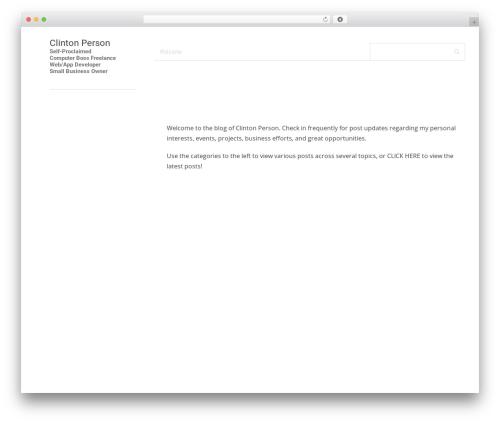 MaterialX WordPress template for business - clintonperson.com