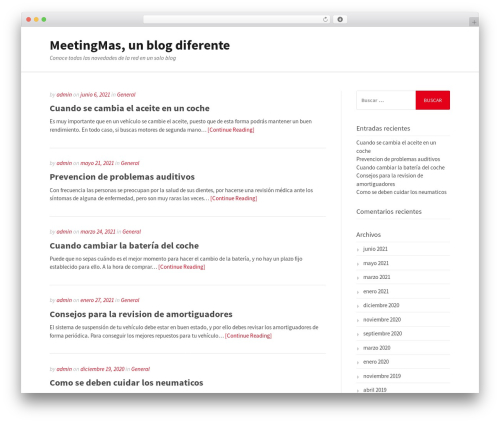 WordPress template Gatsby - meetingmas.com