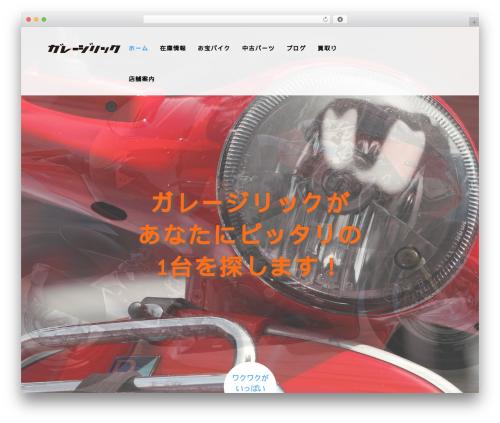 AGENT WordPress ecommerce theme - garage-rick.com