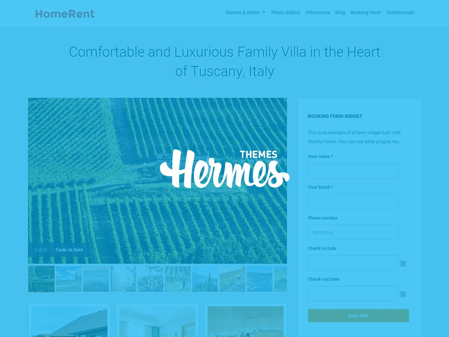 homerent top WordPress theme