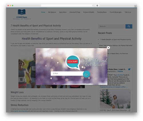 Businessweb Plus company WordPress theme - comics911.com