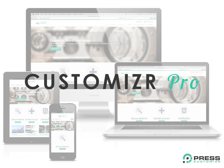 Customizr Pro WordPress page template
