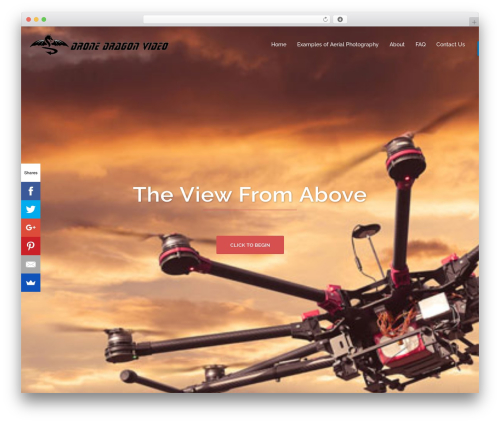 Sydney WordPress theme design - dronedragonvideo.com