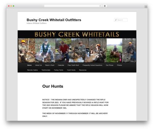 Twenty Eleven theme WordPress free - bushycreekwhitetails.com