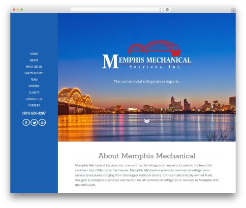 X best WordPress template - memphismechanical.com