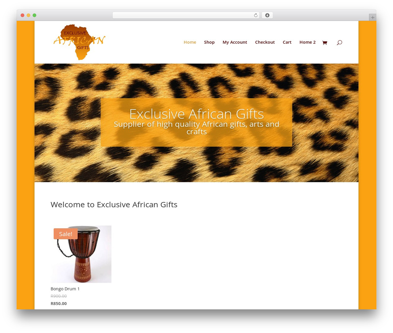 Divi template WordPress - exclusiveafricangifts.com