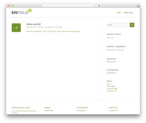 Enfold best WordPress template - larriangillespieactress.com