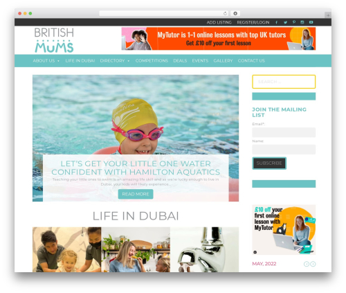 Extra best WordPress magazine theme - britishmums.com