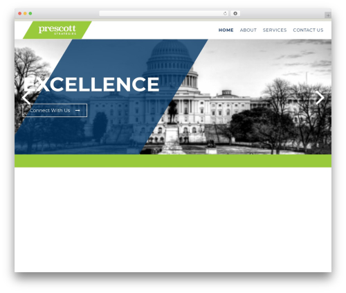 Politist WordPress theme - prescottstrategies.com