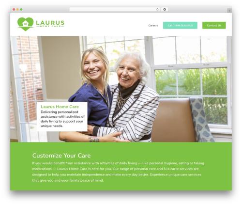 Best WordPress template Divi - laurushomecare.com