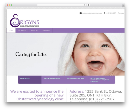 Health-Center-Pro medical WordPress theme - origynsmedical.com