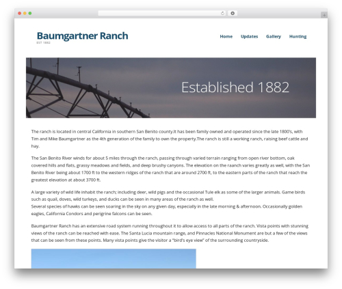 WordPress template Ascension - baumgartnerranch.com
