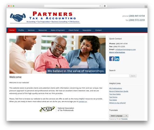 WordPress template Customized - partnerstaxpro.com