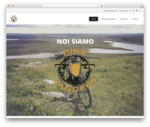 WordPress theme The Ocean - bikelanders.com
