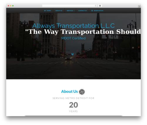 WordPress theme X - allwaystransportation.com