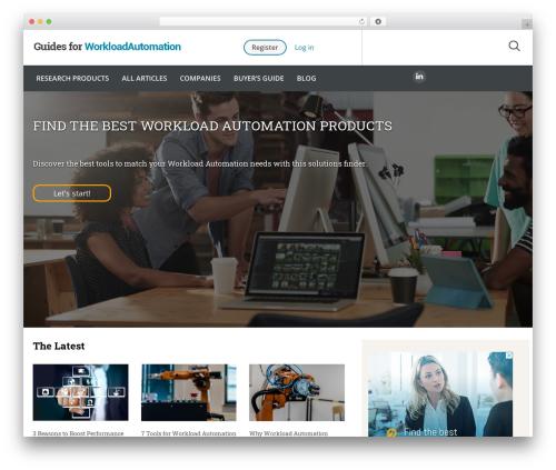 WordPress website template Guides for CRM Wordpress Theme - guidesforworkloadautomation.com