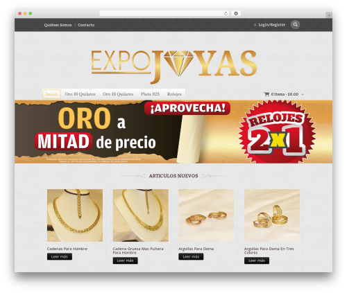 WordPress website template Jewellery - expojoyas.com