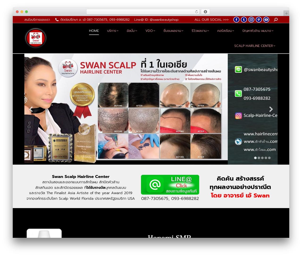 Best WordPress template The7 - hairlinecenter.com