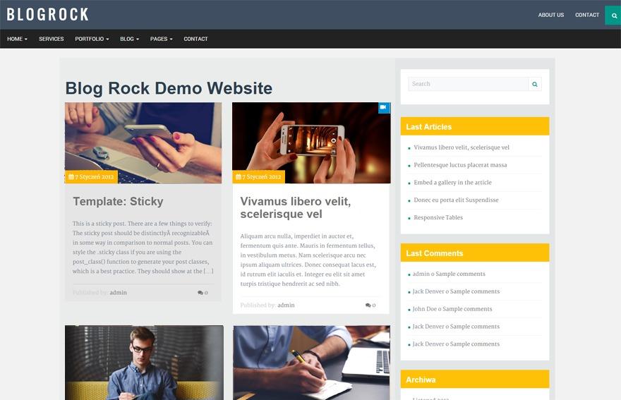 Blogrock Core Child newspaper WordPress theme