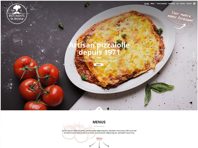 Dimenna - Rosa Child best restaurant WordPress theme