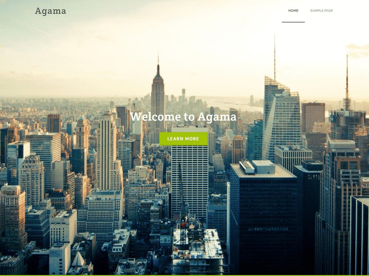 Agama WordPress ecommerce template