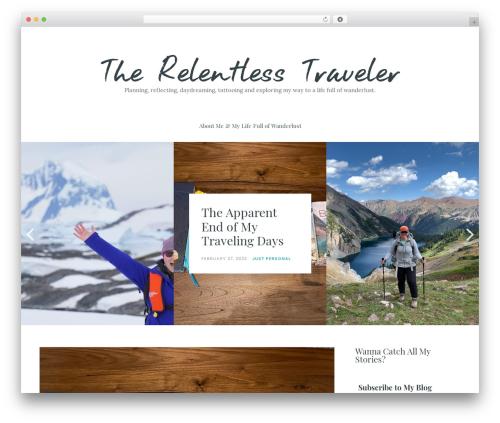 Carbis WordPress travel theme - therelentlesstraveler.com