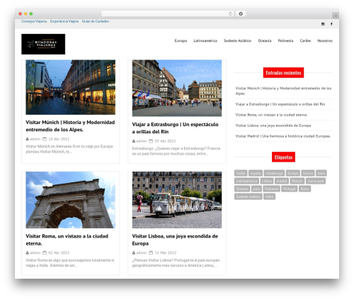 Good News Lite premium WordPress theme - bitacorasviajeras.com