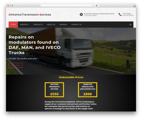 Industry WordPress theme - airtronicstransmissionservices.com