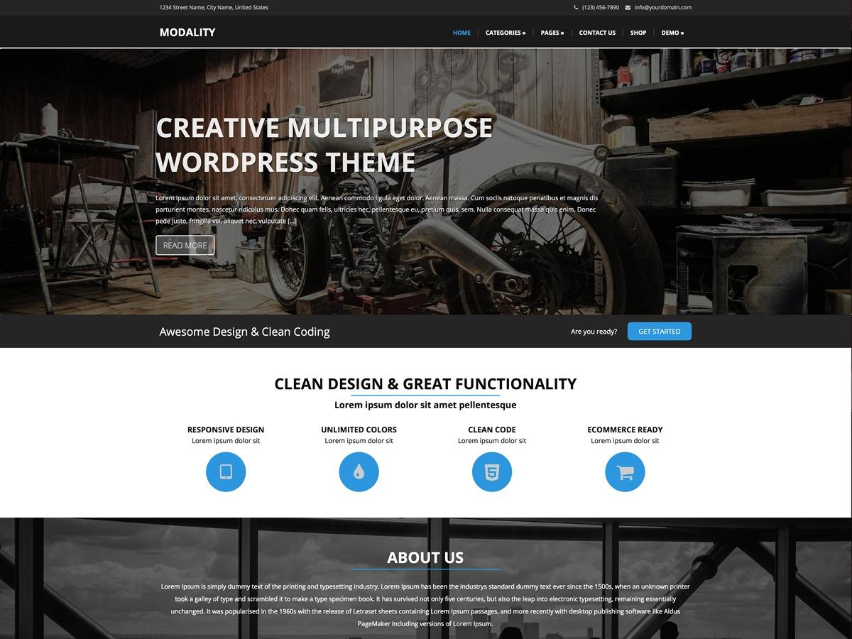 Modality Pro Child WordPress website template