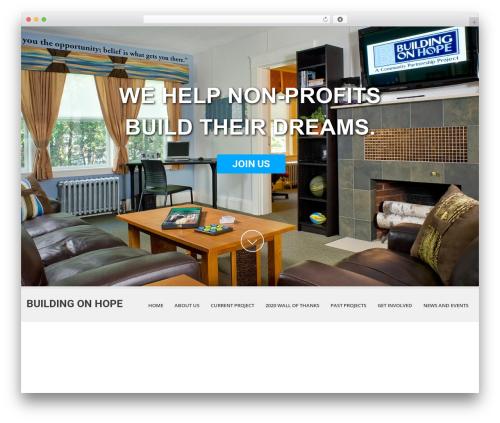 SKT White WP template - buildingonhope.com