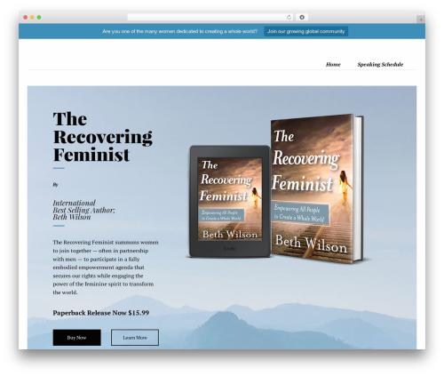 Theme WordPress Booker - recoveringfeministbook.com