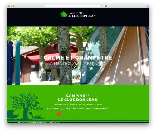 WordPress theme Betheme - campingclosdonjean.com