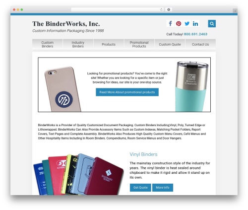 WordPress website template Unity - binderworks.com