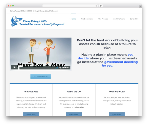 Avada WordPress page template - cheapraleighwills.com