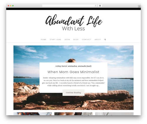 Hallie - Premium WordPress theme - abundantlifewithless.com