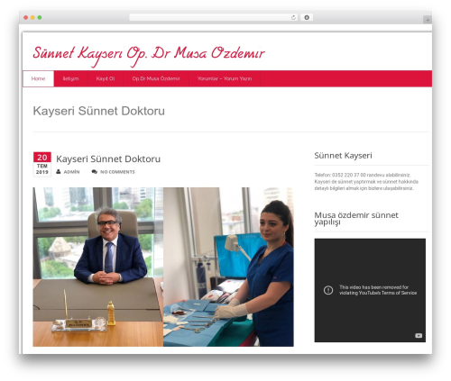Health-Center-Lite WordPress template - sunnetkayseri.com
