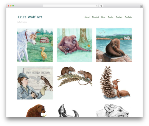 Maker template WordPress free - ericawolf.com