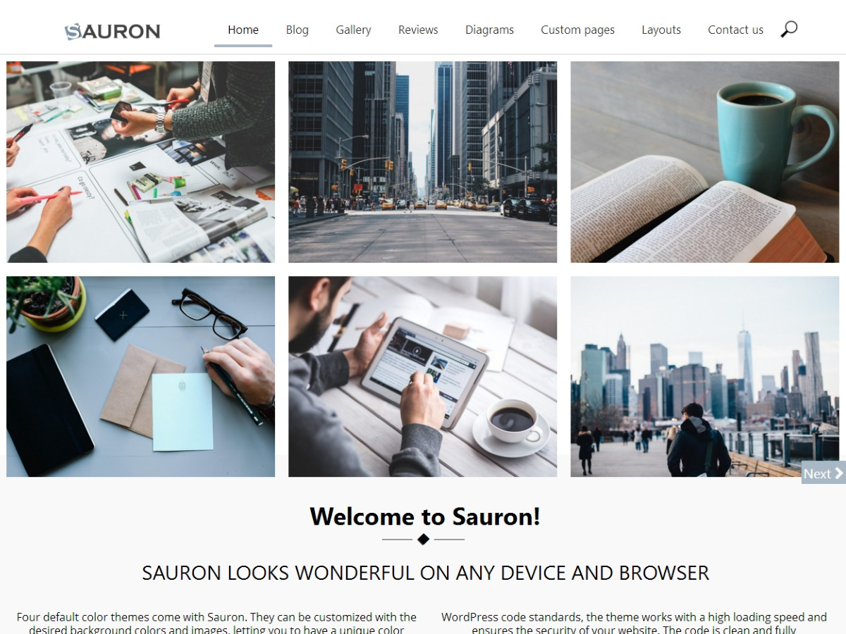 Sauron Child theme WordPress