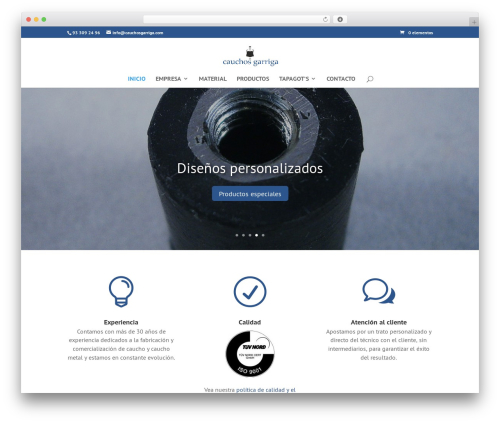 Template WordPress Divi - cauchosgarriga.com