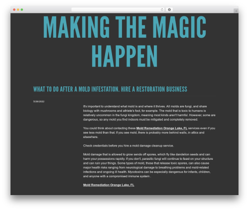 Theme WordPress Trvl - makingthemagichappen.com