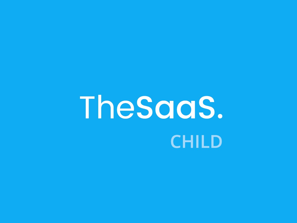 TheSaaS Child template WordPress