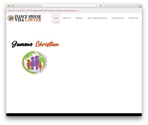 Veda WordPress theme - fiancespousevisalawyer.com
