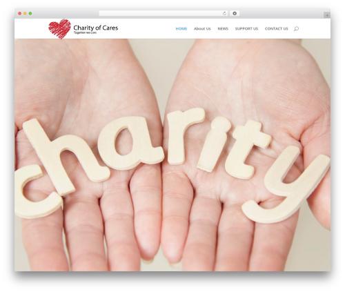 Best WordPress template Divi - charityofcares.com