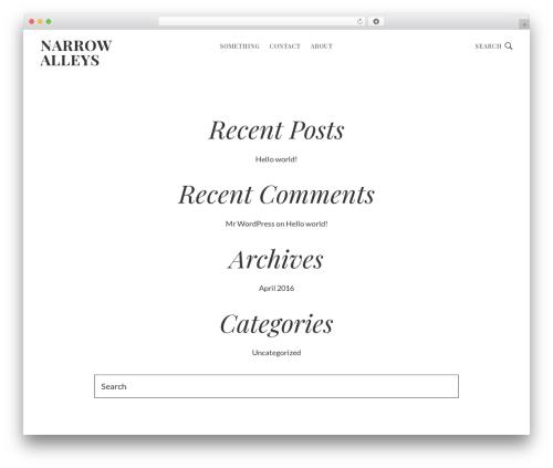 Genesis WP theme - narrowalleys.com
